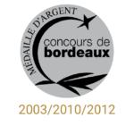 château sainte barbe ambes bordeaux - recompense medaille- concours de bordeaux medaille d'argent