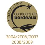 château sainte barbe ambes bordeaux - recompense medaille- concours de bordeaux - medaille d'or