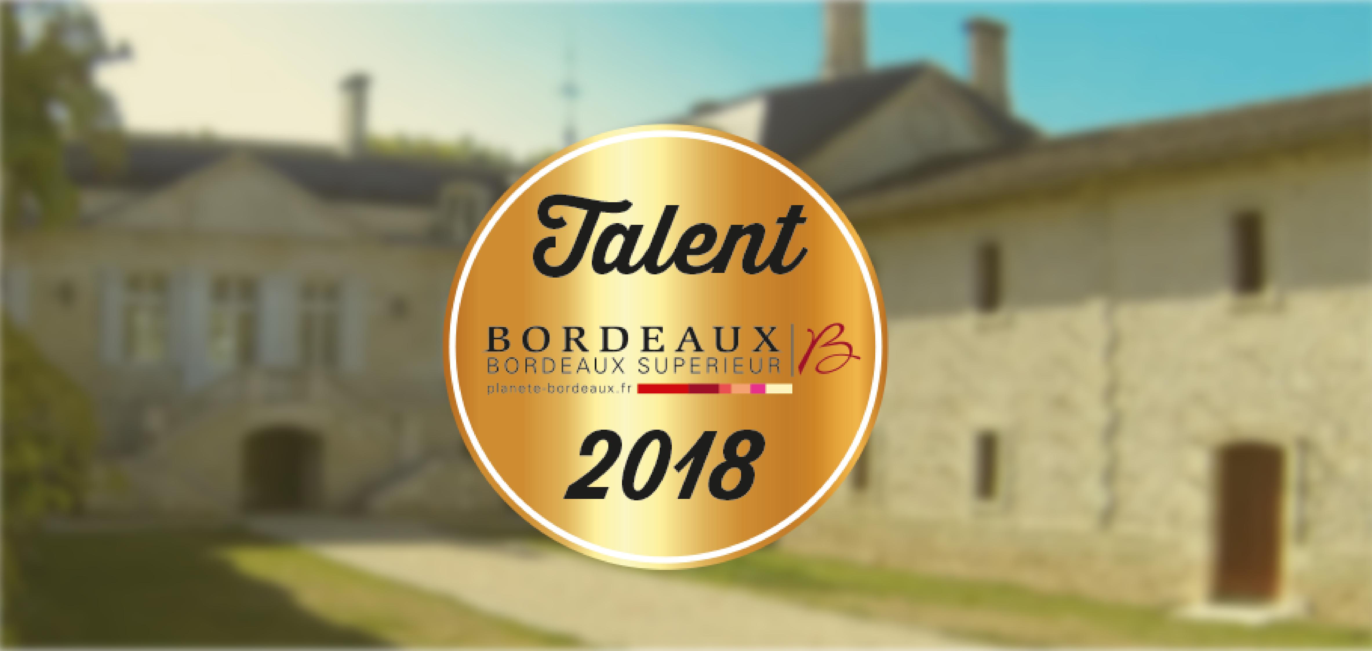 actualiées recompense talent 2018 château sainte barbe ambes bordeaux