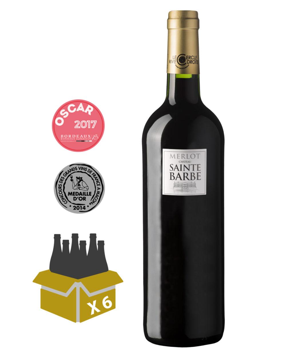 merlot 2014 château sainte barbe, achat vins de bordeaux