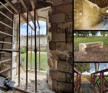 travaux au Château Sainte Barbe